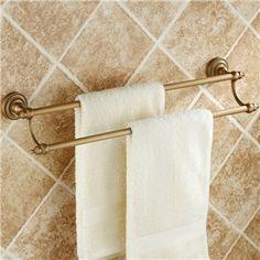 Öl eingerieben Bronze zweiarmiger Handtuchhalter