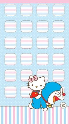 Sanrio Wallpaper, Iphone 6 Wallpaper, Hello Kitty Wallpaper, Kawaii Wallpaper, Phone Wallpapers, Doraemon Wallpapers, Cute Wallpapers, Mobile Icon, Kawaii Stickers