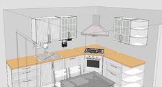 Corner Stove, Corner Sink Kitchen, Smart Kitchen, Kitchen Units, Kitchen Cupboards, Country Kitchen, Kitchen Design Open, Kitchen Cabinet Design, Interior Design Kitchen