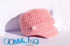 Gorro de beba en crochet. tamaño para 1año by GOMILINA