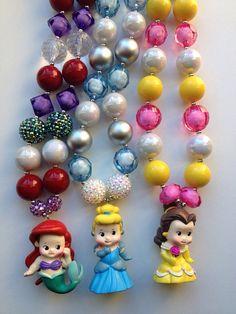 Princess chunky necklace..chunky bead necklace.. by GirlzNGlitter, $20.00