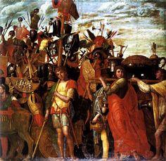 Canvas III: Bearers of Trophies and Bullion (Triumphs of Caesar) Andrea Mantegna Italian 1431-1506 c. 1484-1492 Renaissance Tempera on Canvas Ducal Palace, Mantua,Mantova MN, Italy
