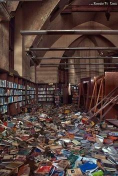 Abandoned library in Detroit...this makes me so sad!