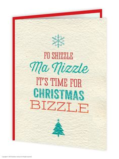 christmas bizzle christmas card - Non Photo Christmas Cards