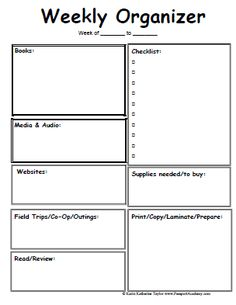 student planner templates | Homeschool Lesson Planner Pages - Passport Academy
