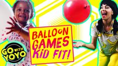 BALLOON GAMES! At Home PE Activities 🎈GO with YOYO