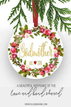 godmother christmas gift godmother christmas ornament