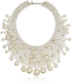 Kenneth Jay Lane Rhodium Mesh and White Faux Pearl Drops Bib Necklace Kenneth Jay Lane http://www.amazon.com/dp/B00IIJ10X6/ref=cm_sw_r_pi_dp_Cgzhvb096CT65