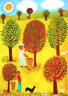 Apple Orchard Art Print by Christopher Corr - WorldGallery.co.uk