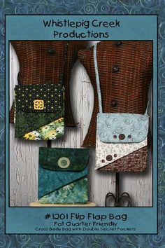 PDF - Flip Flap bag Sewing Pattern. $8.00, via Etsy.