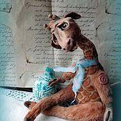 Куклы и игрушки ручной работы. Ярмарка Мастеров - ручная работа Жираф.Животное доброе,домашнее.. Handmade.
