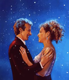 The 12th Doctor and River Song - ''Our Last Adventure'' by luluha (deviantART) -- Doctor Who.S09E13 - ''The Husbands of River Song'' - Christmas Special 2015 (Doctor Who - BBC Series)  source: http://luluha.deviantart.com/art/Our-Last-Adventure-580262329