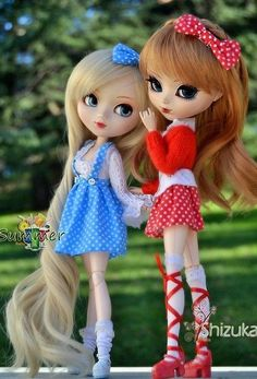 Summer y Shizuka - Pullip Aquel y Pullip Ninja Akoya Ooak Dolls, Blythe Dolls, Girl Dolls, Beautiful Barbie Dolls, Pretty Dolls, Barbie Images, Cute Cartoon Girl, Cute Baby Dolls, Kawaii Doll