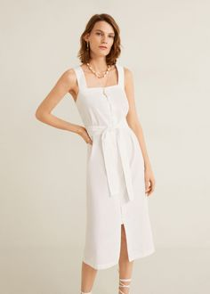 Discover the latest trends in Mango fashion, footwear and accessories. Shop the best outfits for this season at our online store. Mango Outlet, White Linen Dresses, Mango Fashion, The Dress, Evening Dresses, Latest Trends, Cool Outfits, Cold Shoulder Dress, Street Style