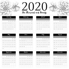 calendar 2020 with dahlia flower sketch decoration, Minimal, Minimalist, Beautiful PNG and Vector Cherry Blossom Flowers, Dahlia Flower, Wolf Clipart, Pig Png, Frame Floral, Cartoon Butterfly, Watercolor Flower Background, Flower Sketches, Calendar 2020