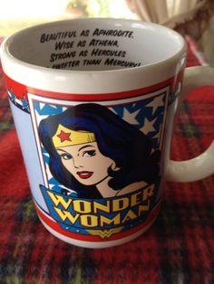 "Wonder Woman "" As Lovely as APHRODITE As Wise As ATHENA"" Coffee Mug Cup…"