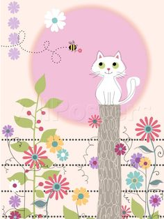 Interesting Cat Art...Cat and bee