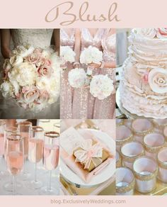 Blush Wedding Color - If you are having a spring or summer wedding, you might want to consider using pastels or soft colors as your wedding colors.