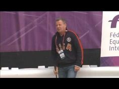 """Mclain Ward's barn manager """"riding"""" along as Mclain is oncourse @ london 2012 Olympics Games"""