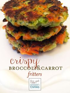 Crispy Broccoli and Carrot Fritters Healthy Meal Plans Week of March 24 / Black Bean Salad with Lime Cilantro Vinaigrette / Crockpot Pineapple Chicken / Cannellini Bean Meatballs and Tomato Sauce / Thin-Crust Pizza Night