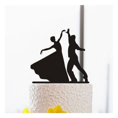 Ballroom Dancing Cake Topper-Silhouette Wedding Cake Topper-Acrylic... ($13) ❤ liked on Polyvore featuring home, home decor, holiday decorations, personalized cake toppers, personalized home decor and cake toppers Bride Silhouette, Silhouette Wedding Cake, Couple Silhouette, Wedding Cake Toppers, Wedding Cakes, Funny Cake Toppers, Bride And Groom Cake Toppers, Wedding Humor, Wedding Stuff
