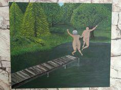 Enjoyable aging. Acrylic painting by Duygu Onur