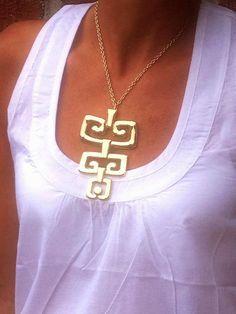 Petroglyph necklace