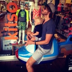 How one properly fathers (Eric Christian Olsen and his son Wyatt)
