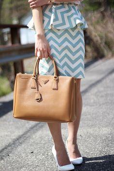 Chevron Peplum Skirt. I want a skirt like this SO BAD