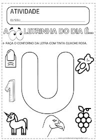 A Arte de Ensinar e Aprender: ATIVIDADE PRONTA - LETRA U Preschool Spanish, Preschool Worksheets, Kindergarten, Homeschool, Clip Art, Science, Teaching, Education, Aurora