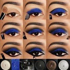 Royal Blue Smokey Eye | Makeup Tutorial | Eye Makeup ❤ | Source: Unknown