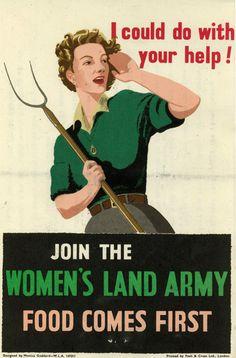Reprint of a British Land Army Recruiting Poster by csfotobiz, $25.00