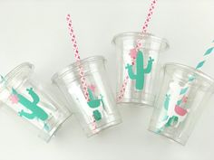 Llama Party Cups - Llama Birthday Llama Baby Shower Pink and Mint Llama Favors Cactus Party Cactus Baby Shower Llama Party Supplies 13th Birthday Parties, Summer Birthday, Birthday Party Favors, Birthday Ideas, Llama Birthday, Baby Birthday, Kids Party Decorations, Party Cups, Fiesta Party