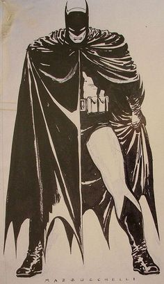 #Batman #The #Dark #Knight #Fan #Art. By: Mazzucchelli.