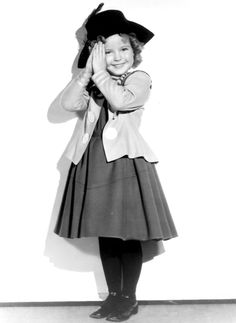 Shirley Temple in a portrait for The Little Colonel, 1935.