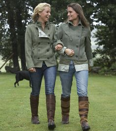 Dubarry tweed jackets. I love these jackets!