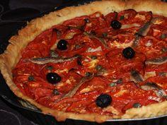 Tarte tomates Menu 1200 Calories, Paella, Vegetable Pizza, Cocktails, Vegetables, Ethnic Recipes, Food, Craft Cocktails, Veggies
