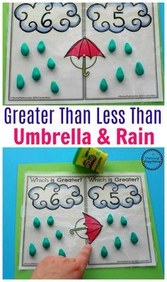 Greater Than Less Than Math Activity for Kindergarten.