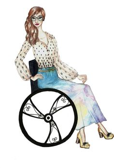 My first wheelchair fashion croqui <3>>> See it. Believe it. Do it. Watch thousands of spinal cord injury videos at SPINALpedia.com