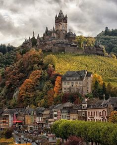 Beautiful Places Discover The castle on the hill Cochem Germany More memes funny videos and pics on Castle On The Hill, Destination Voyage, Beautiful Castles, Beautiful Places To Travel, Wonderful Places, Romantic Travel, Travel Aesthetic, Germany Travel, Germany Europe