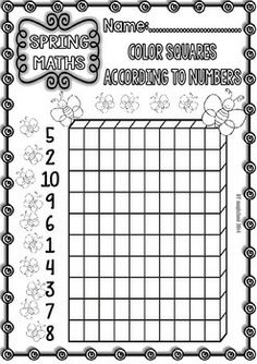 Spring Funny Kinder 1st Maths Printables Numbers 0 10