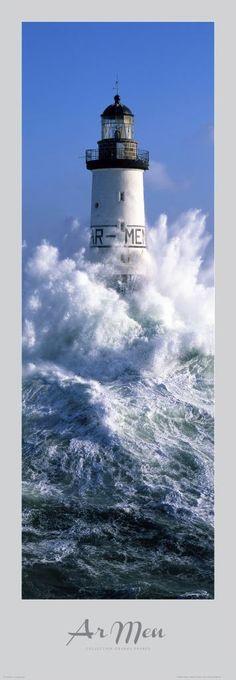 Poster photo Bretagne Phare d' Ar-Men - Finistère - Guillaume Plisson