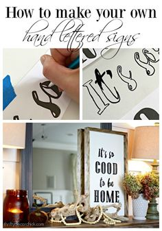 Easy tutorial to make your own hand lettered signs!