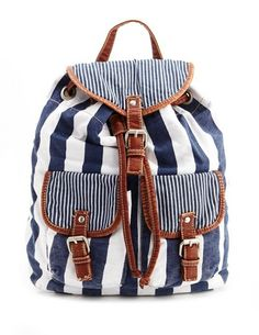 Striped Canvas Backpack- want it, need it, but mostly want it ;)) good price too!
