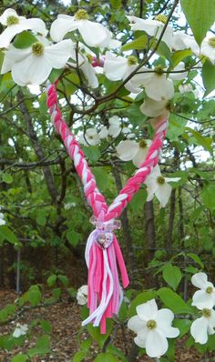Check out this item in my Etsy shop https://www.etsy.com/listing/230537962/kids-braided-scarf-necklace-in-hot-pink