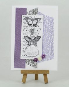 Mesh ribbon featured in this card by Bec www.craftqueen.com.au