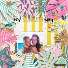 Hello again and happy Tuesday! I'm back today to share a new layout usingthe super pretty Good Vibes collection by Crate Paper. I'm loving the bright colors and cheerful embellishments in this collec