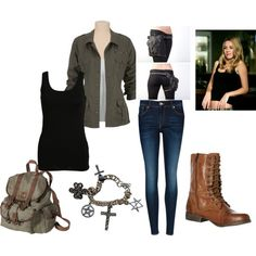 """Jo Harvelle Costume"" by queen-of-zambies on Polyvore aka the inspirational ""General Idea"" of what I want my costume to look like. :)"