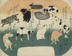 #Japanese Bob Tail Cats   - A collection of cats (Nekotsuruken)    Kuniyoshi