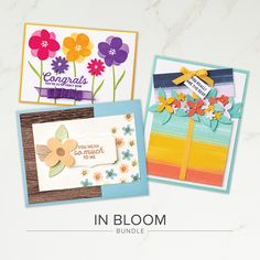 The In Bloom Bundle includes the In Bloom Stamp Set and the Pierced Blooms Dies. Our craft bundles make coordination easy. Stamp & tool bundles help you quickly cut out stamped images for a single project or create multiples of the same project with ease. Contact your Stampin' Up! Demonstrator or go to our online store today!